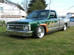 Lowered Truck with Flames