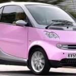 Pink Smart Car